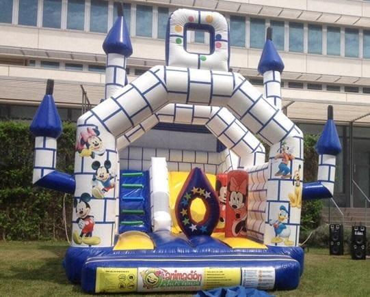 Castillo hinchable en Valencia Mickey Mouse